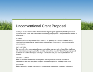 Link to Grant Proposal form